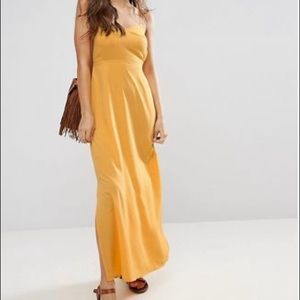 Yellow Asos dress